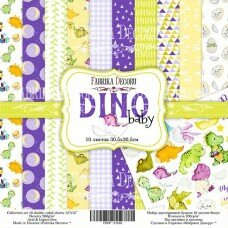 "Набор скрапбумаги ""Dino baby"", 30,5x30,5см, Фабрика Декору"