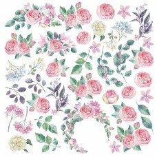 """Лист с картинками для вырезания из коллекции """"Mysterious garden"""""""