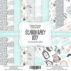 """Набор двухсторонней скрапбумаги """"Scandi Baby Boy"""", 20x20 см"""