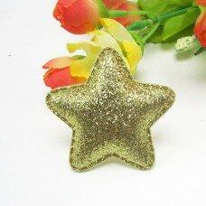Глиттерные звезды. Цвет Gold