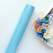 Пленка для термопереноса матовая. Цвет голубой