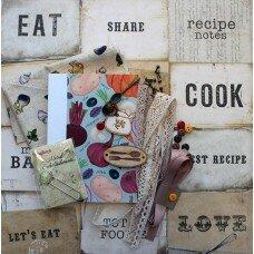 "Скрап набор ""Блокнот. Cook Book"" А6"