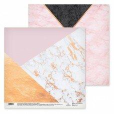 """Двусторонний лист бумаги """"Мраморный узор"""" из коллекции """"В стиле счастья"""" 30*30"""