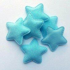Глиттерные звезды. Цвет голубой