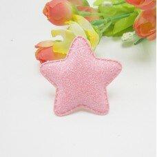 Глиттерные звезды. Цвет розовый