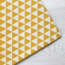 """100% хлопок """"Треугольники"""" Цвет желтый"""