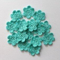 Вязаный цветочек. Цвет бирюзовый