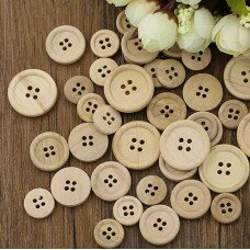 Набор деревянных пуговиц