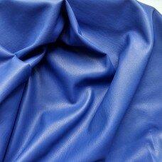 Кожзаменитель на замшевой основе. Цвет синий
