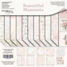 Набор двусторонней бумаги 20х20 см Beautiful Moments от Scrapmir
