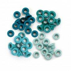 Люверсы Standard Eyelets – Aluminum Aqua. We R Memory Keeper