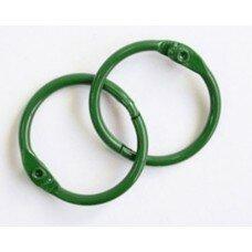 Кольца для альбомов. Цвет зеленый. 40 мм