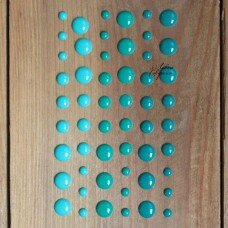 Декоративные эмалевые точки. Цвет бирюзовый