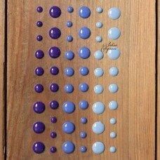 Декоративные эмалевые точки. Цвет фиолетовый.