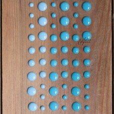 Декоративные эмалевые точки. Цвет голубой.