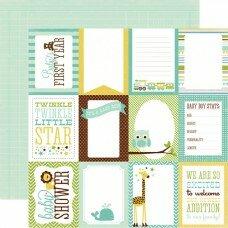 "Двусторонний лист бумаги 30*30см ""Boy Journaling Cards"""