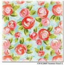 "Двусторонний лист бумаги 30*30 см""Summer Floral"""