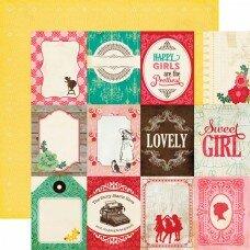 """Двусторонний лист бумаги 30*30 см """"Jack and Jill Girl. Journaling Cards"""""""