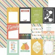 """Двусторонний лист бумаги 30*30 см """"Made from Scratch. Journaling Cards """""""