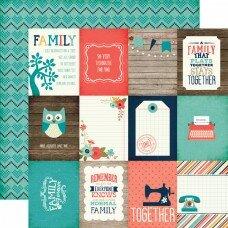 """Двусторонний лист бумаги 30*30см """"The Story of Our Family. Journaling Cards"""""""