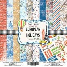 "Двусторонний набор бумаги 20*20 ""European Holidays"""