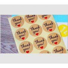 """Наклейки """"Thank you"""" 12 шт"""