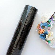 Пленка для термопереноса с глиттером. Цвет Black