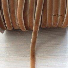 Вельветовая лента. Цвет светло-коричневый