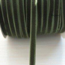 Вельветовая лента. Цвет темно-зеленый