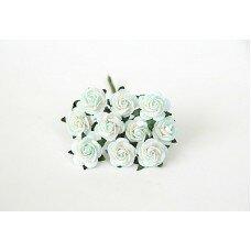 Розы. Цвет бело-мятный