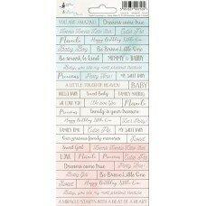 "Лист с наклейками  01 из коллекции ""Cute&Co"""