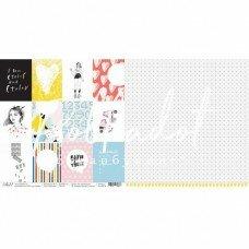 "Двусторонний лист бумаги ""Карточки"" из коллекции ""16+"""
