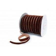 Вельветовая лента. Цвет коричневый. 10мм