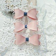 Набор бантиков. Цвет розовый с темно-синим