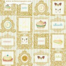 """Двусторонний лист """"Le Petit Café"""" Webster's Pages"""