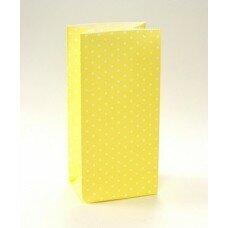 Пакет подарочный в горошек. Цвет желтый