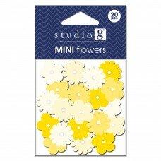 Бумажные цветы Everyday Yellows. Цвет желтый.