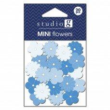 Бумажные цветы Everyday Blues. Цвет голубой