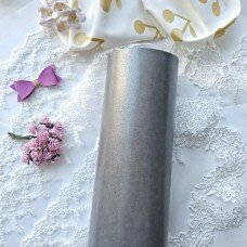 Матовый переплетный кожзаменитель. Цвет глянцевое серебро