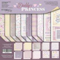 Набор двусторонней бумаги 20х20 см  Daddy's Princess от Scrapmir