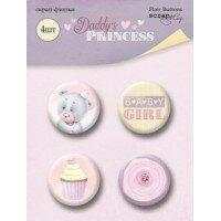 Набор скрап-фишек для скрапбукинга 4 шт от Scrapmir Daddy's Princess