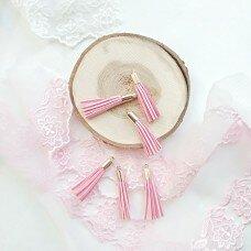 Кисточки бархатные. Цвет розовый