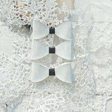 Набор бантиков. Цвет белый с черным