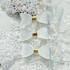 Набор бантиков. Цвет белый с золотом